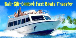 Fast Boats Transfer Services from Bali to Senggigi Lombok and Gili Trawangan, Gili Meno and Gili Air